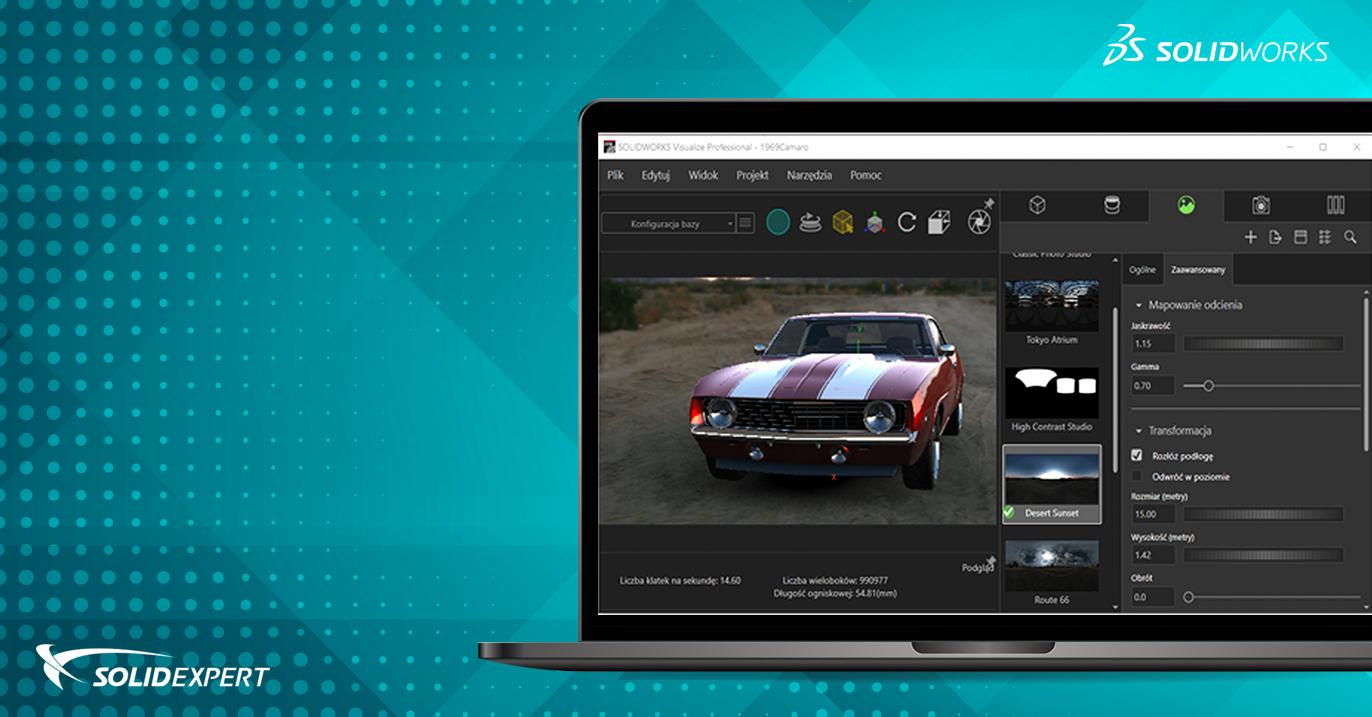 Webinar SOLIDWORKS Visualize – Dobre praktyki przygotowania projektu do pracy