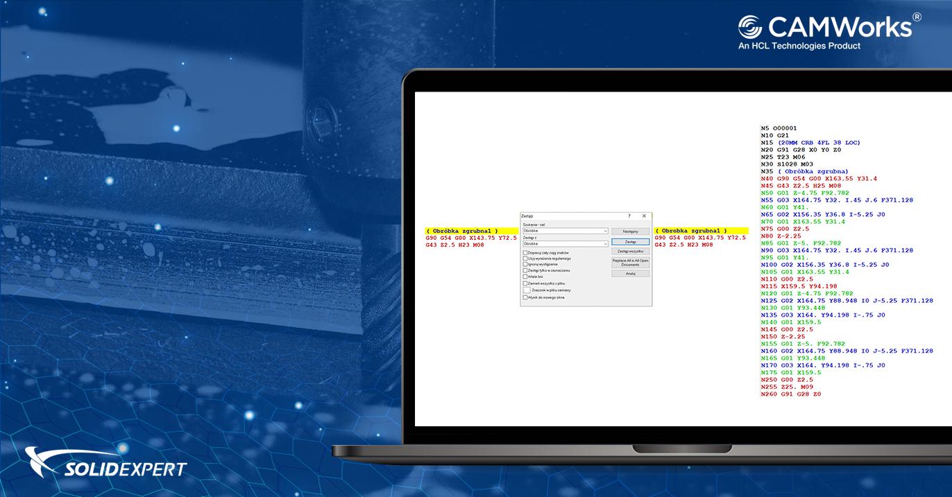 CAMWorks NC Editor – Funkcje zakładki Edytor