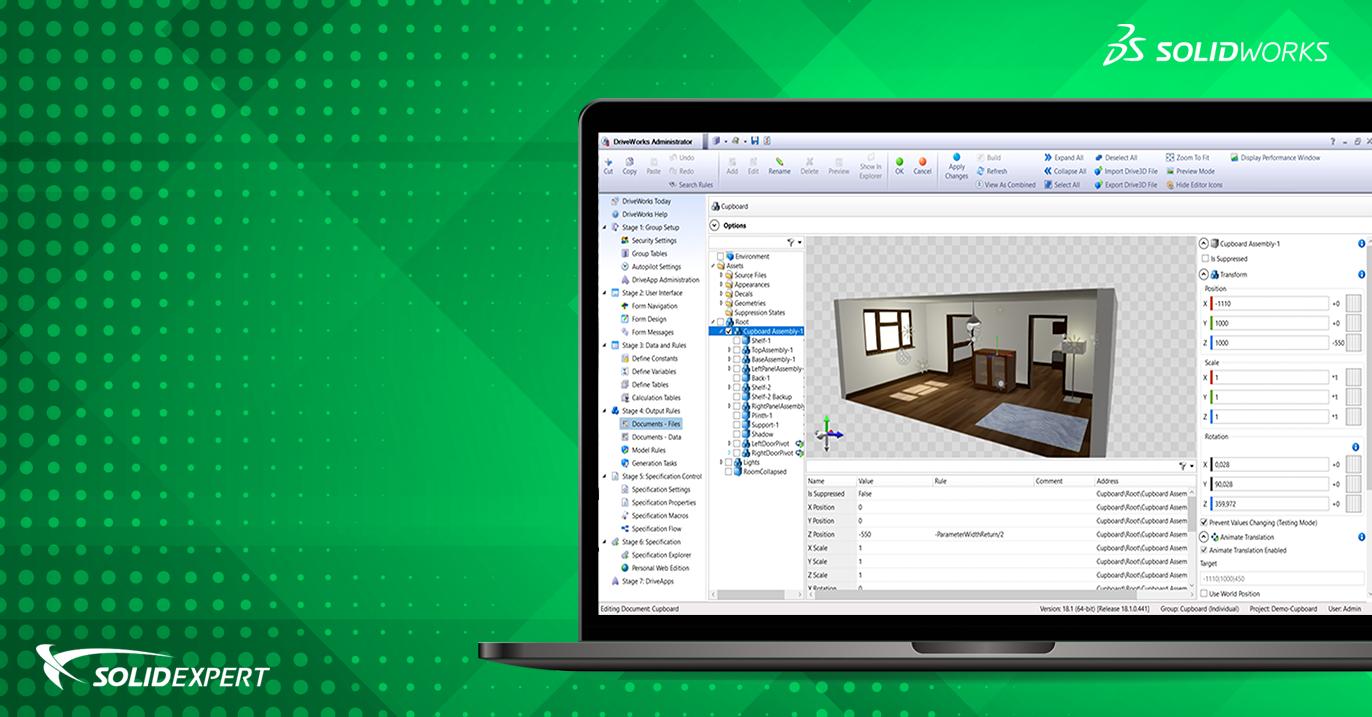 Nowości DriveWorks Pro 18 – Większe możliwości przygotowania podglądu 3D
