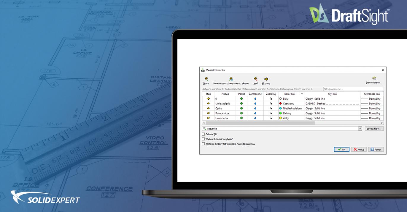 DraftSight – Korzystanie z właściwości kolor, rodzaj i szerokość linii