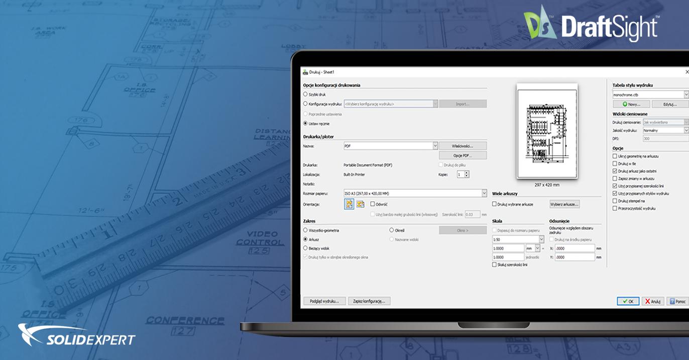 DraftSight – Drukowanie z arkusza krok po kroku