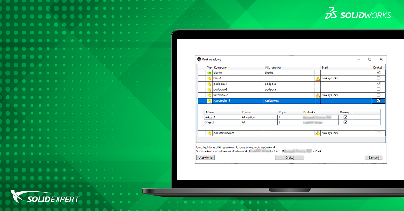 BatchPrint – Wsadowy wydruk dokumentacji projektowej w SOLIDWORKS