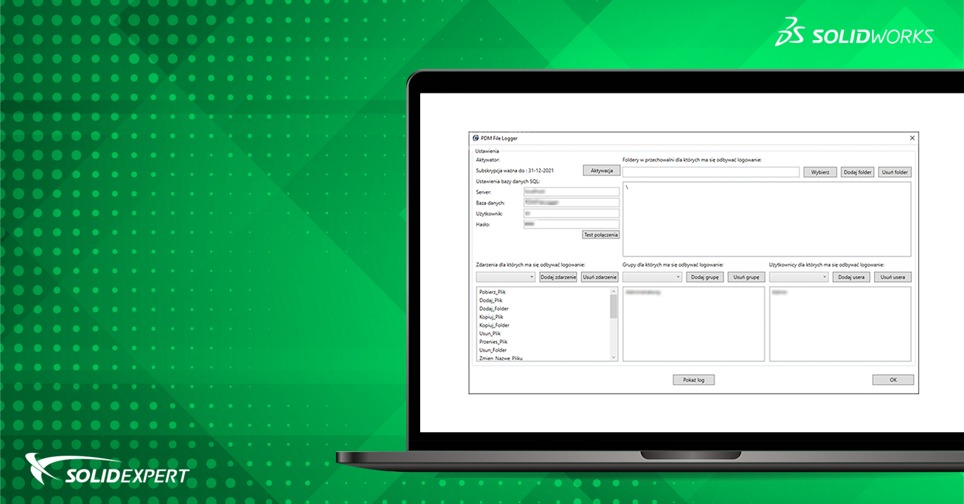 PDM File Logger – Rejestrowanie zdarzeń w środowisku SOLIDWORKS PDM
