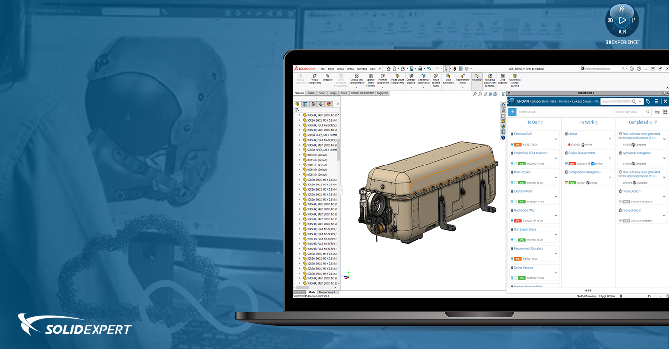 3DEXPERIENCE Project Planner dla SOLIDWORKS