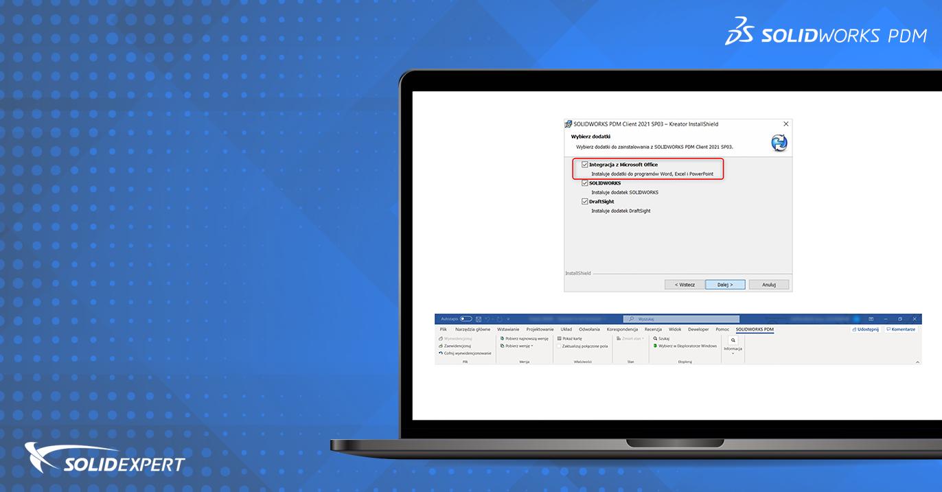SOLIDWORKS PDM – Ręczna instalacja dodatku PDM w Microsoft Office