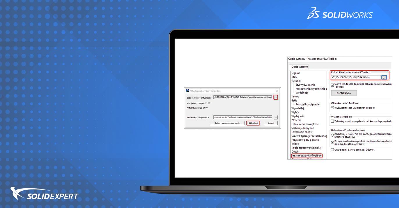 SOLIDWORKS PDM – Aktualizacja biblioteki Toolbox w PDM