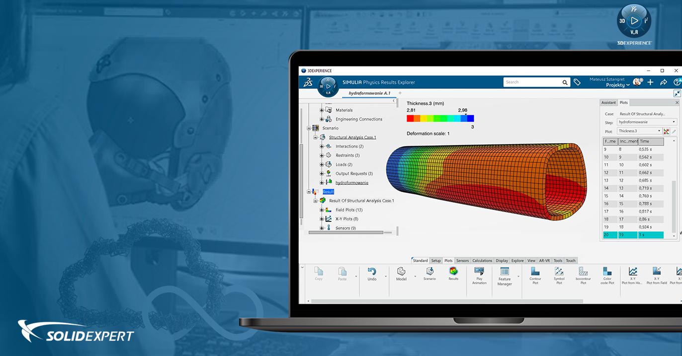 Hydroformowanie rur – Symulacja procesu w SIMULIA 3DEXPERIENCE